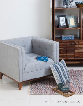 Single Sofa Blue