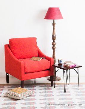 Single Sofa Red