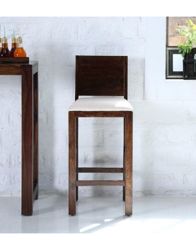 Oriel Solid Wood Bar Stool in Provincial Teak Finish by Woodsworth